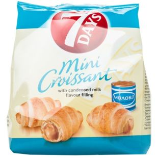 7Days, 60 g, croissants, condensed milk