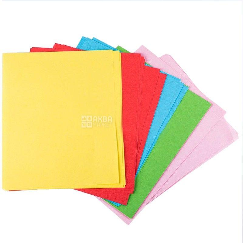 IQ, 250 л., бумага, 5 цветов, mix Pastell, А4, м/у