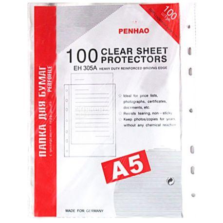 Penhao, Файлы глянцевые, А5, 40 мкм, 100 шт.