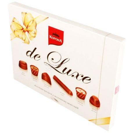 Crown, 146 g, sweets, in milk chocolate, De Luxe