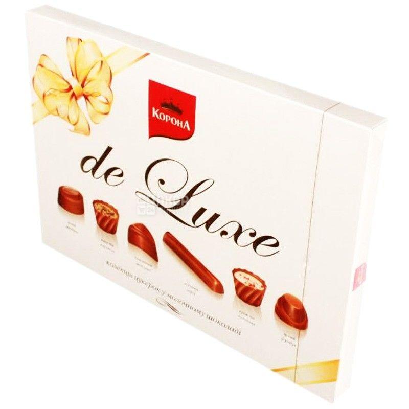 Корона, 146 г, конфеты, в молочном шоколаде, Де Люкс