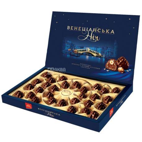 Корона Венеціанська ніч, 154 г, шоколадні цукерки, З цілими лісовими горіхами, м/у