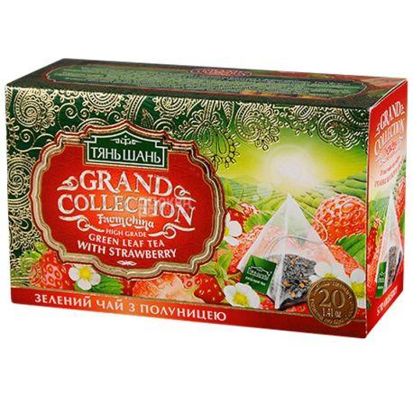 Тянь-Шань, Strawberry, 20 пак., Чай Полуниця, зелений