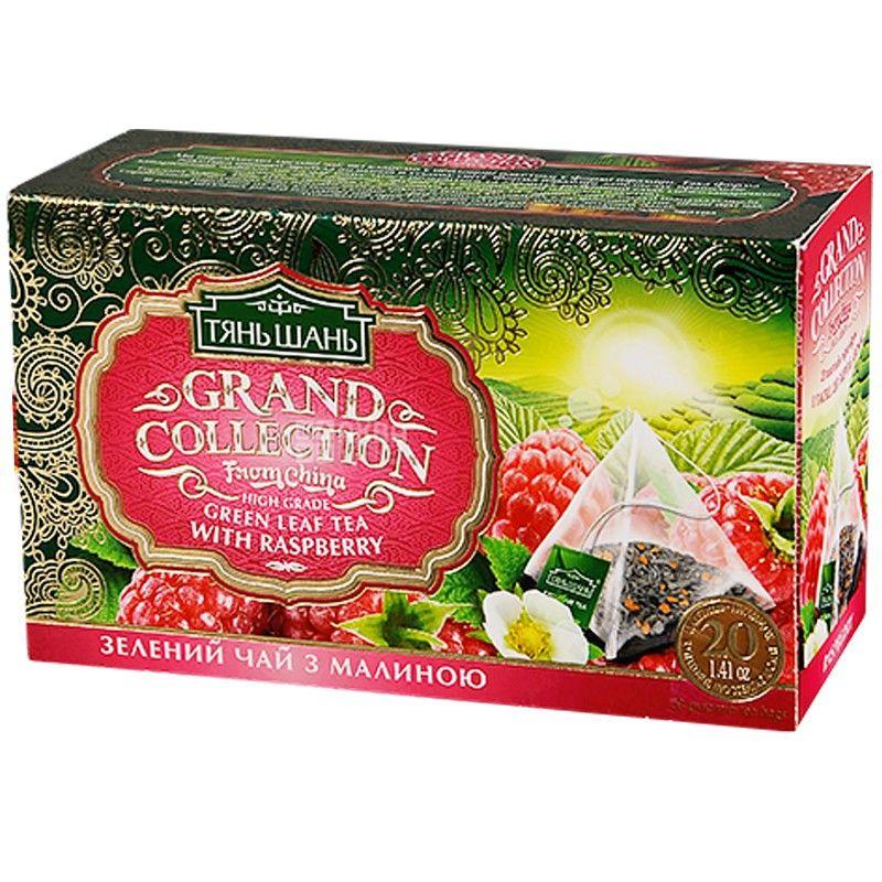 Тянь Шань, Raspberry, 20 пак., Чай с малиной, зеленый