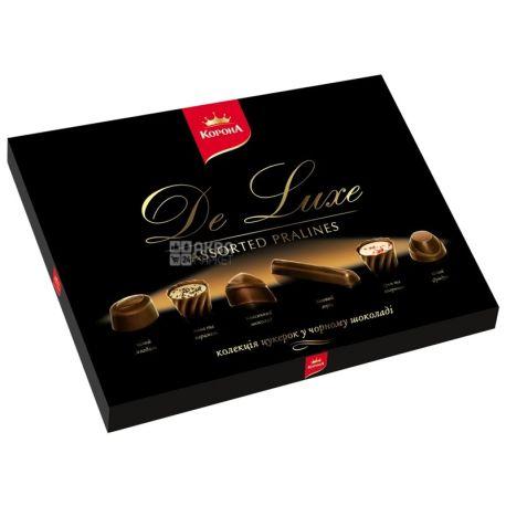 Корона, 146 г, конфеты, в черном шоколаде, Де Люкс