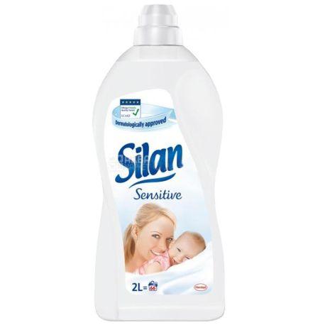 Silan Sensitive 2 л, Кондиционер для белья, Миндальное молоко и алоэ вера