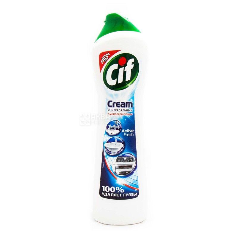Cif, Active Fresh, 500 мл, Чистящий крем, Универсальный