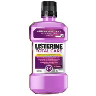 Listerine, 500 мл, рідина для полоскання рота, Total Care