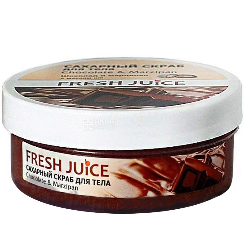 Fresh Juice, 225 г, скраб для тела, шоколад и марципан