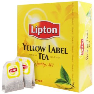 Lipton, Yellow Label, 100 пак., Чай Липтон, Черный
