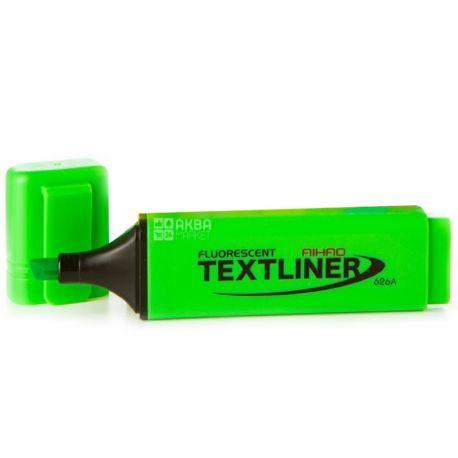 AIHAO, Маркер текстовый, Неоновый, Зеленый, 2-4 мм