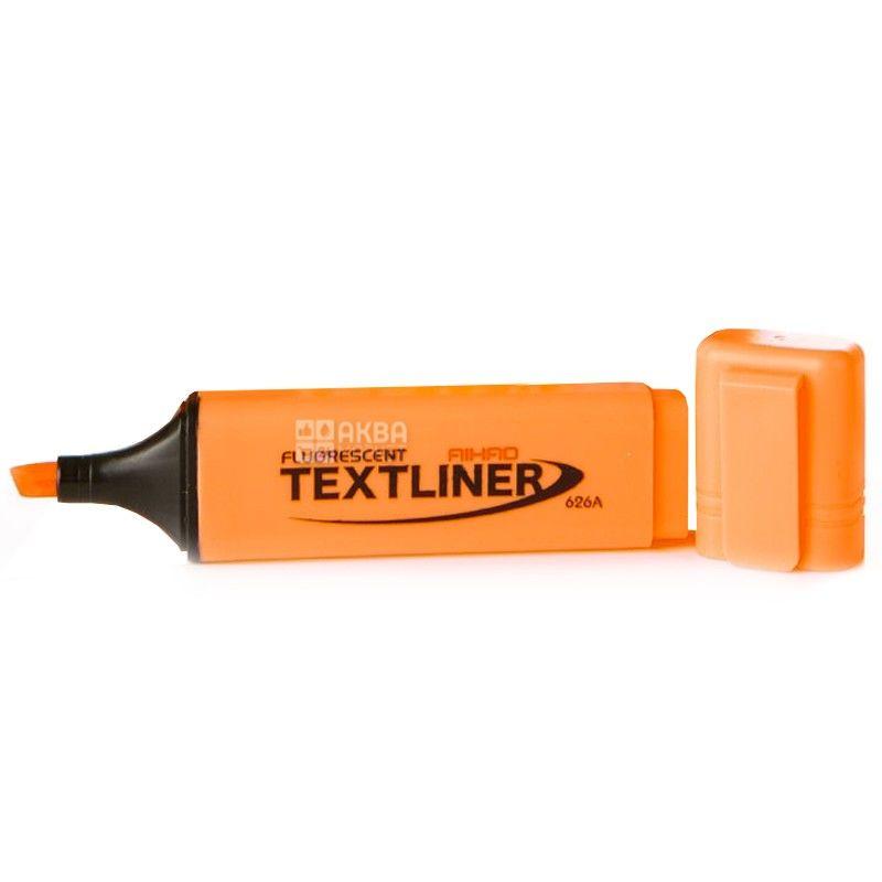 AIHAO, 2-4 мм, маркер текстовый, Неоновый, Оранжевый, м/у