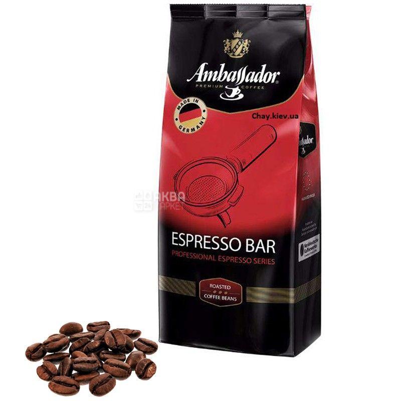 Ambassador Espresso Bar, 1 кг, Кава зернова Амбассадор Еспрессо Бар
