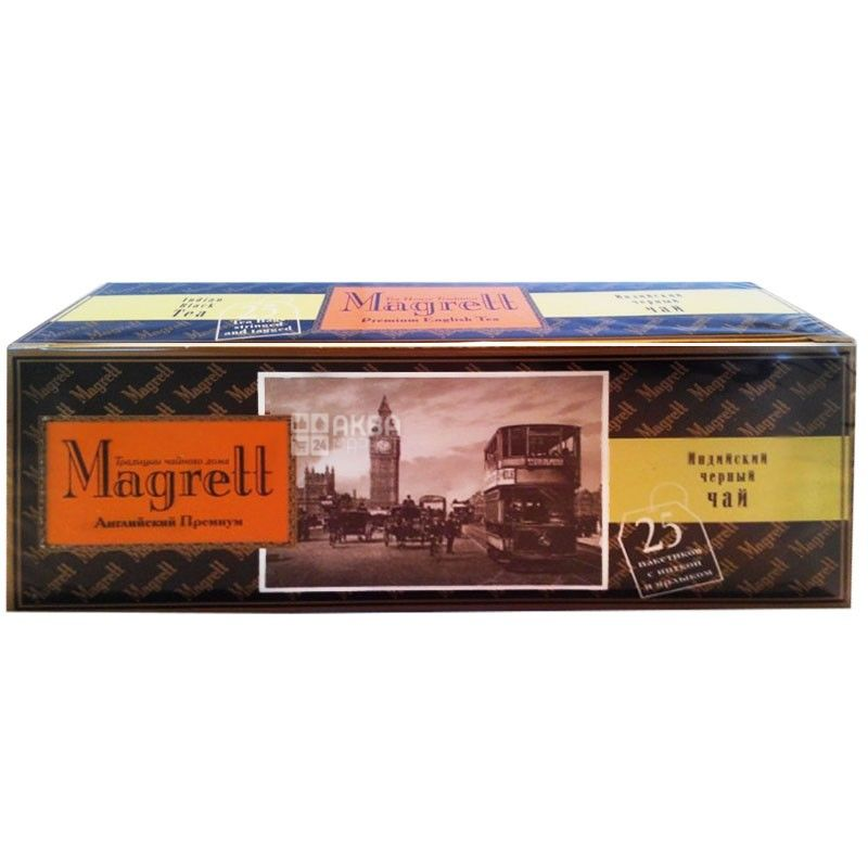 Magrett, 25 шт., чай, чорний, English Premium