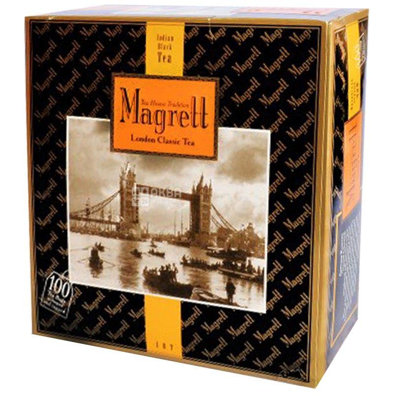 Magrett, 100 шт., чай, чорний, London Classic
