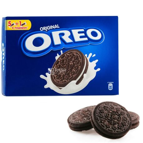 Oreo, 228 г, печенье, с какао и кремовой начинкой ванильного вкуса