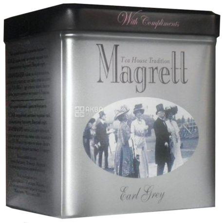 Magrett, 100 г, чай, черный, с бергамотом, Earl Grey, железная банка