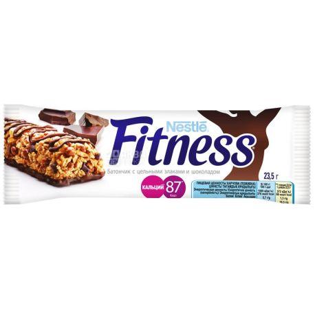 Fitness, 23,5 г, батончик, с цельными злаками и шоколадом