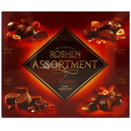 Roshen, 154 г, конфеты, в черном шоколаде, Assortment Classic