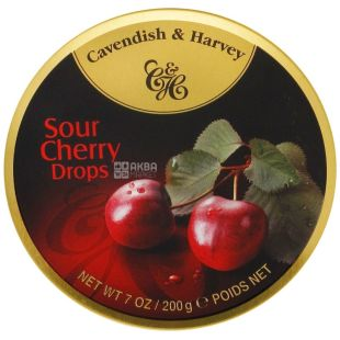 Cavendish & Harvey, 200 g, lollipops, Cherry