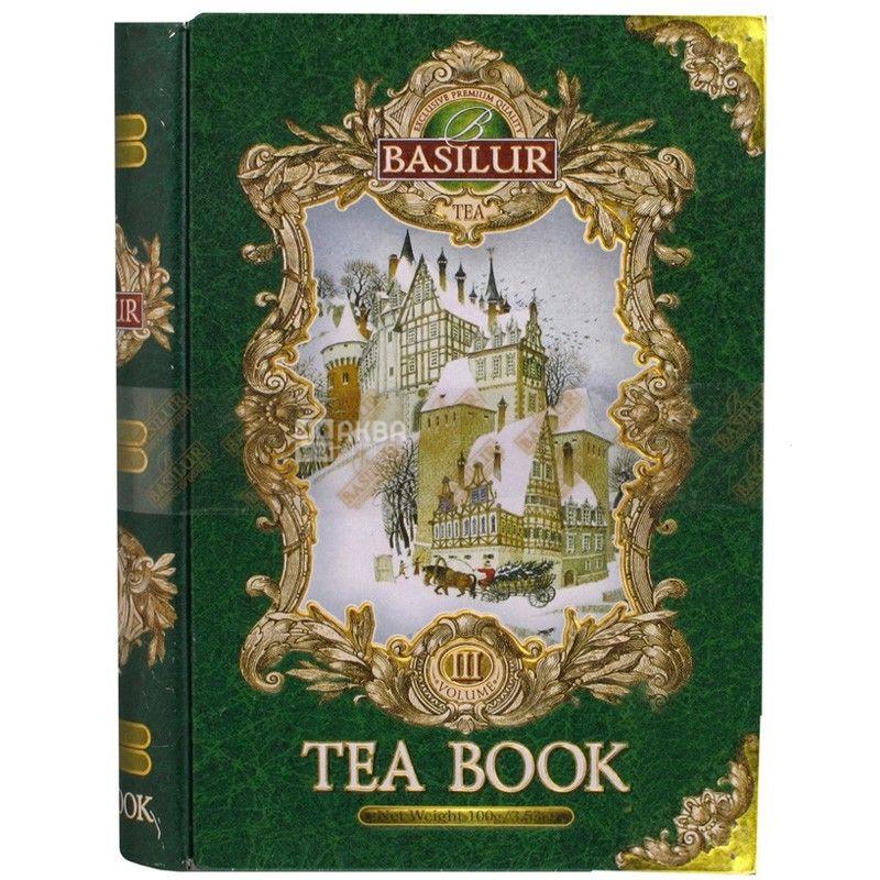 Basilur, 100 г, чай зеленый с добавками, Зимняя книга, Том III, ж/б
