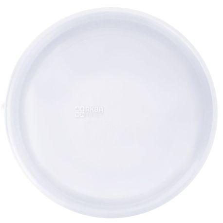 Промтус, Тарелка одноразовая пластиковая, белая, 100 шт., 205 мм