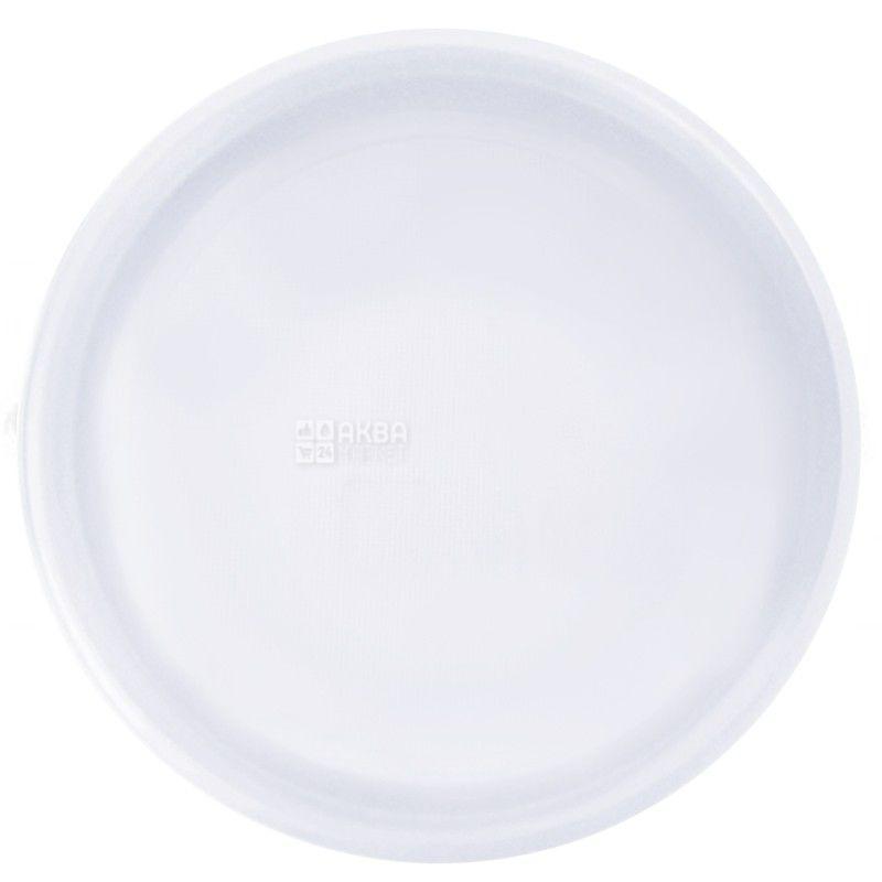 Промтус, 100 шт., 205 мл, тарелка, Пластиковая, Белая, м/у