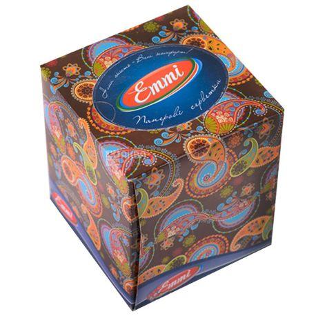Mirus Cube, 80 шт., Салфетки косметические Мирус, 3-х слойные, 20х17 см, белые