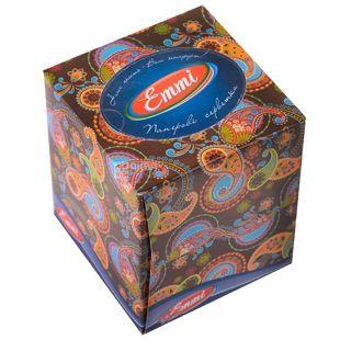 Mirus, 80 шт., 20х17 см., салфетки, Трехслойные, Cube, м/у