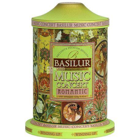 Basilur, 100 g, green tea with additives, music box, romance