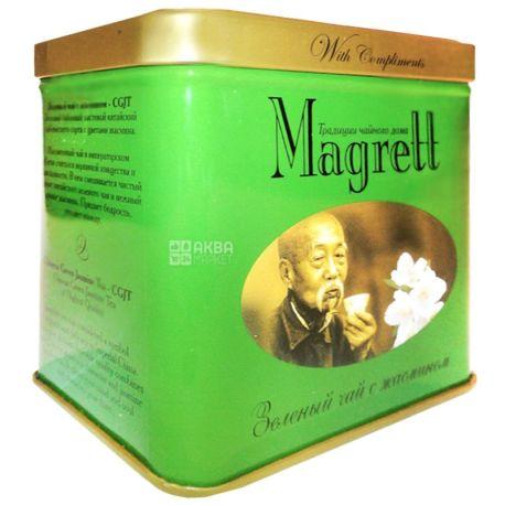 Magrett, 100 г, чай, зеленый, Green Jasmin, железная банка