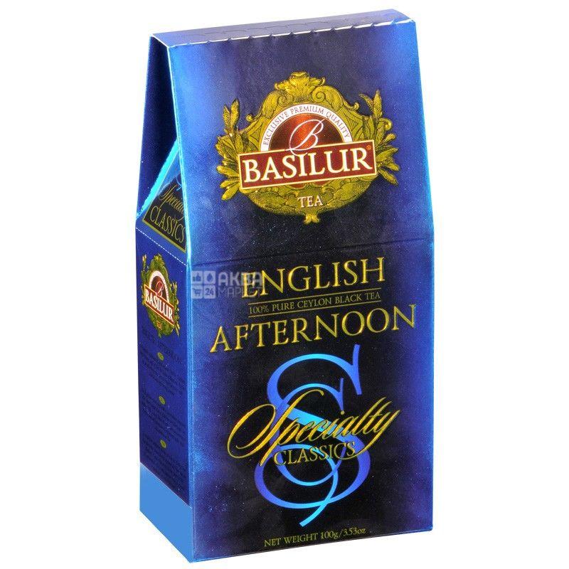 Basilur, English Afternoon, 100 г, Чай Базілур, Англійський полуденок, чорний