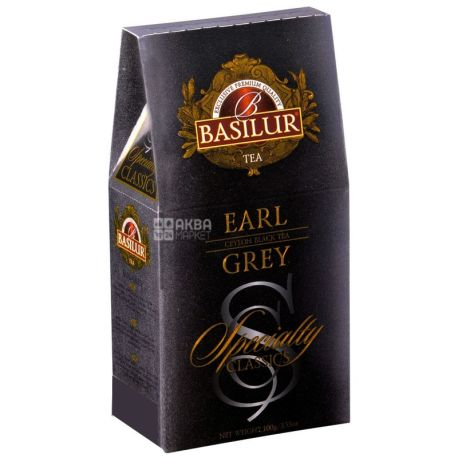 Basilur, Earl Grey, 100 г, Чай Базилур, Эрл Грей, черный с бергамотом