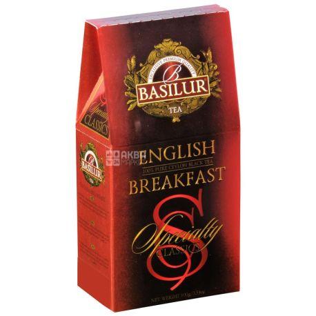 Basilur, English breakfast, 100 г, Чай Базілур, Англійський сніданок, чорний