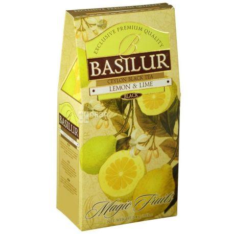 Basilur, Magic Fruits, 100 г, Чай Базілур, чорний зі смаком лимона і лайма