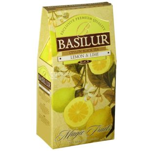 Basilur, 100 г, чай, чорний, Magic Fruits, Лимон і лайм