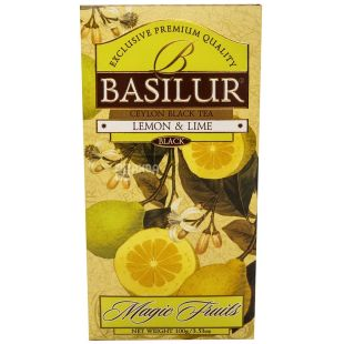 Basilur, 100 g, tea, black, Magic Fruits, Lemon and Lime