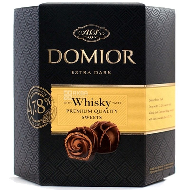 АВК, 225 г, цукерки, зі смаком віскі, Domior
