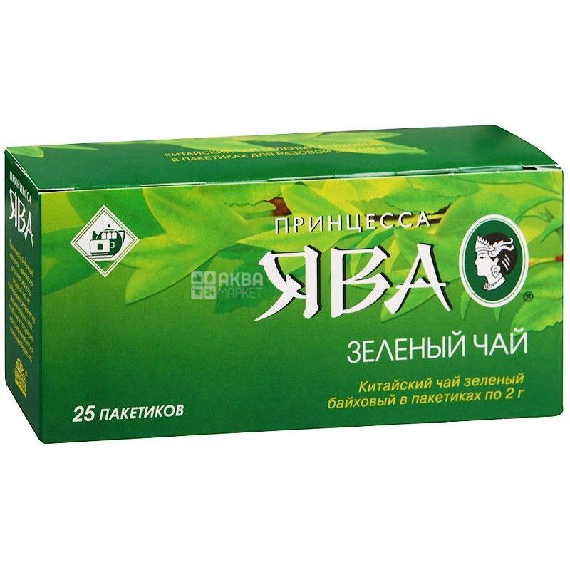 Принцесса Ява, Зеленый Байховый, 25 пак., Чай