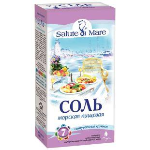 Salute di Mare, 750 г, соль морская, пищевая, крупная
