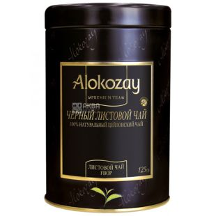 Alokozay, 125 г, чай черный, железная банка
