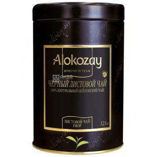 Alokozay, 125 г, чай чорний, залізна банка