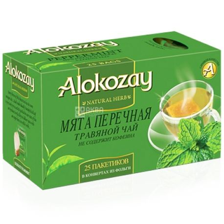 Alokozay, 25 шт., чай травяной, Мята перечная
