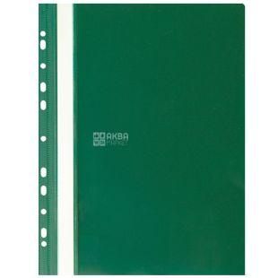 Buromax, папка-швидкозшивач, З перфорацією, Зелена, А4, м/у