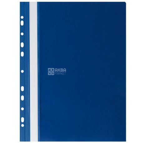 Buromax, Папка-швидкозшивач з перфорацією, А4, синя