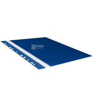 Buromax, папка-швидкозшивач, З перфорацією, Синя, А4, м/у