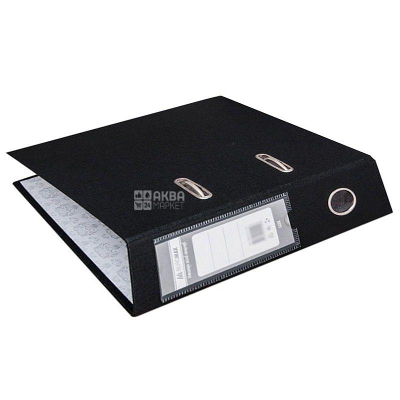 Buromax, 7 см, папка-реєстратор, Чорна, А5, м/у
