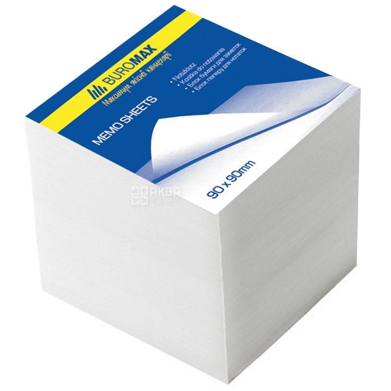Buromax, 1000 л., 90х90 мм, бумага для заметок, Белая, м/у