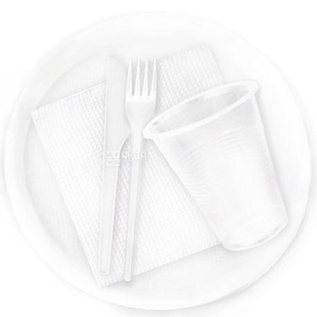 Lux, Набор одноразовой посуды №165, на 6 персон