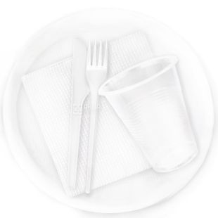 Lux, №165, disposable tableware set, For 6 persons, Standard, m / y